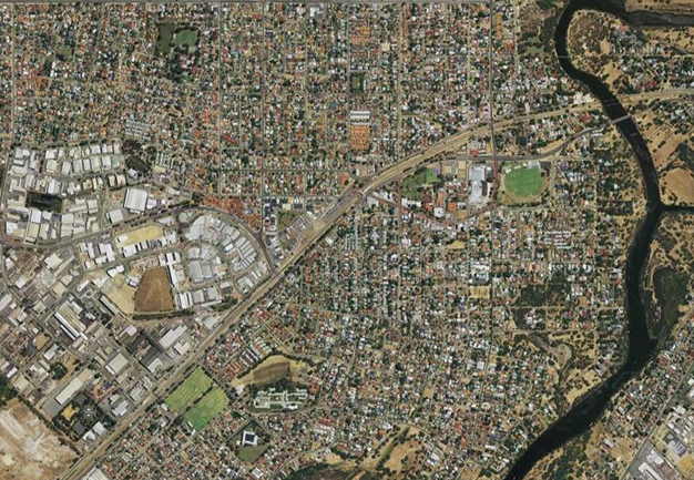 Aerial photograph of Bassendean