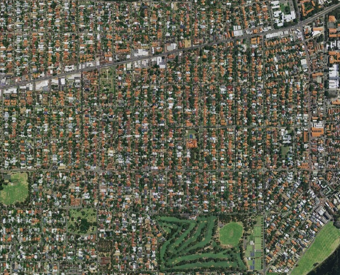 Aerial photograph of the suburb of Nedlands