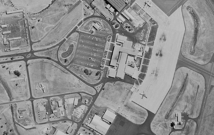 Airport aerial photo taken 1965