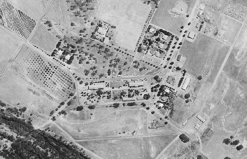 Airport aerial photo taken 1960