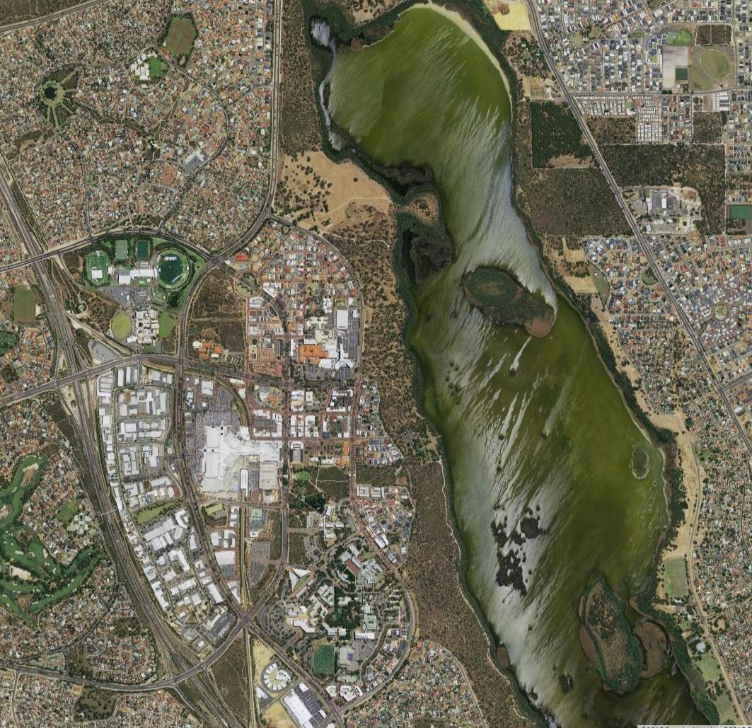 Aerial imagery of the suburb of Joondalup